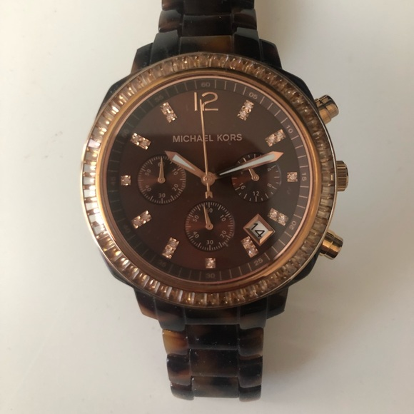 Michael Kors Brown Tortoise Shell Watch